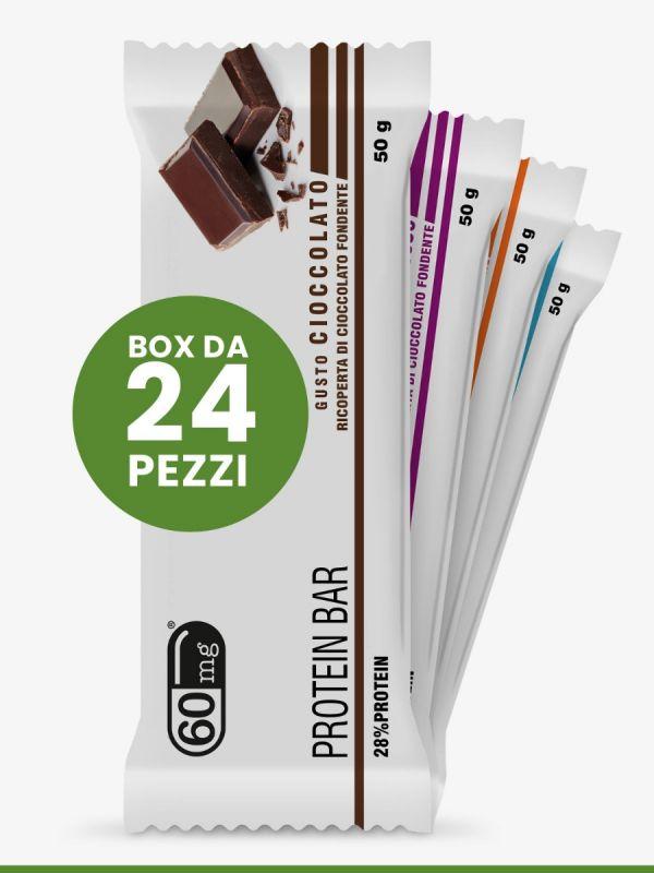 Box Protein Bar 24 pezzi gusti assortiti 60mg