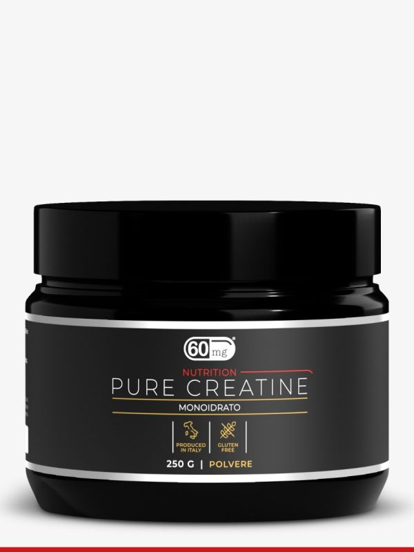 Pure creatine monoidrato 60 mg